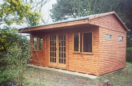 Log Cabin Home Office in Garden