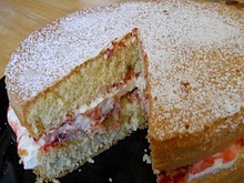 Sponge cake made with duck eggs