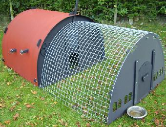 Eco Hen Ark fitted with the option 4 foot run
