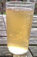 Cold glass of nettle beer