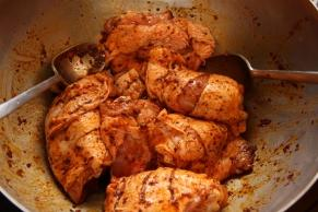 Harissa paste marinade for chicken thighs
