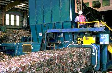 Aluminium can recycling plant
