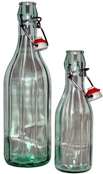 Swing top beer bottles for nettle beer