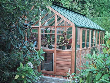 Red Cedar Wooden Greenhouse
